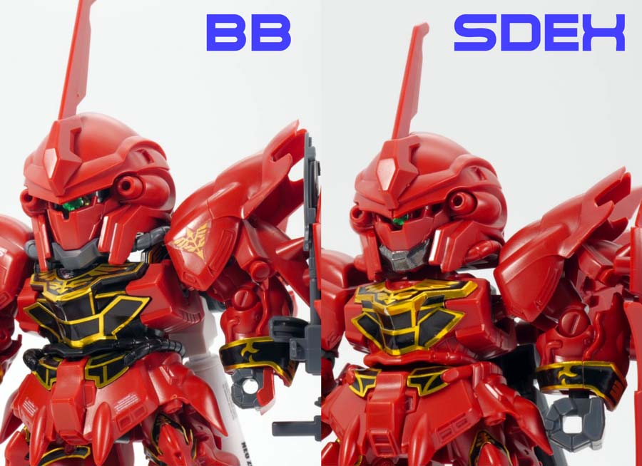 BB戦士シナンジュのガンプラレビュー画像です