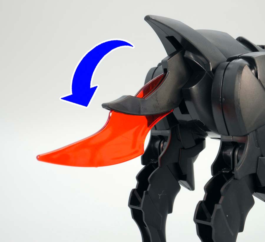軍馬のガンプラレビュー画像です