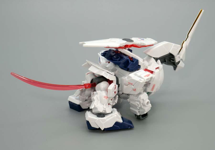 BB戦士ユニコーンガンダム(ユニコーンビーストモード)のガンプラレビュー画像です