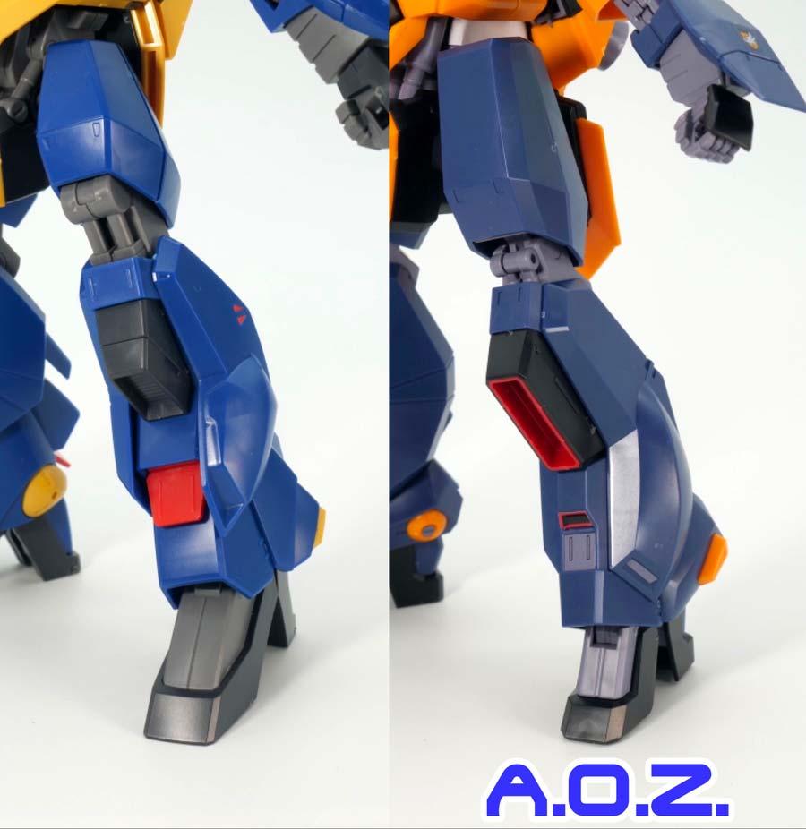 HGバーザムとA.O.Z. RE-BOOT版の違い・比較ガンプラレビュー画像です