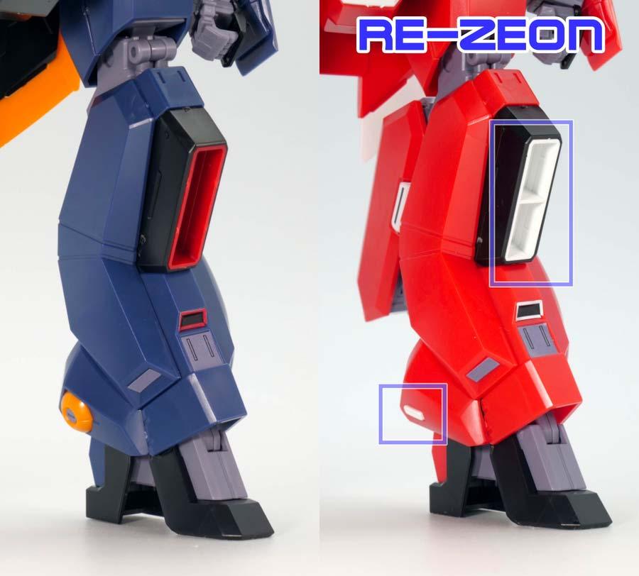 HGバーザム(A.O.Z. RE-BOOT版)とレジオン鹵獲仕様の違い・比較ガンプラレビュー画像です