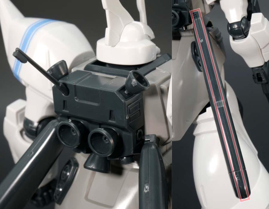 HGシン・マツナガ専用ゲルググJのガンプラレビュー画像です