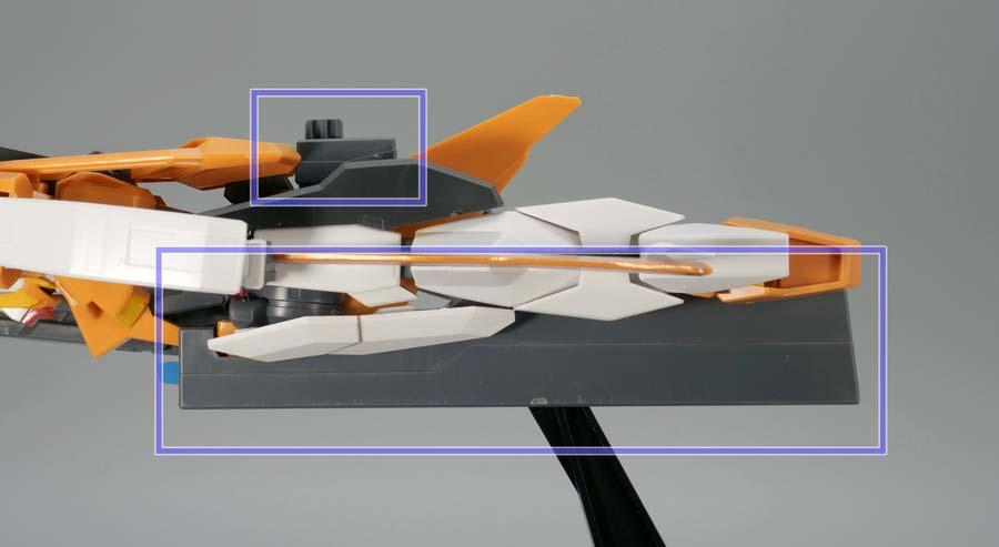 HGアリオスガンダムとHG GNアーチャーのドッキングのガンプラ画像です