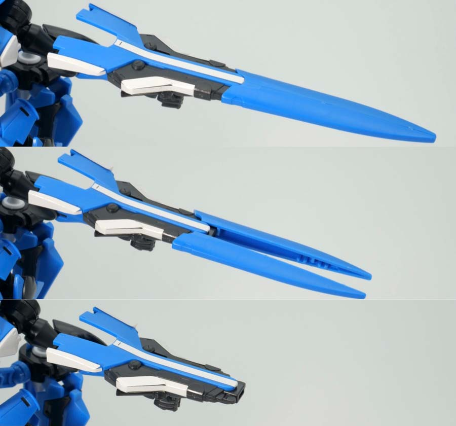 HGブレイヴ指揮官用試験機のガンプラレビュー画像です