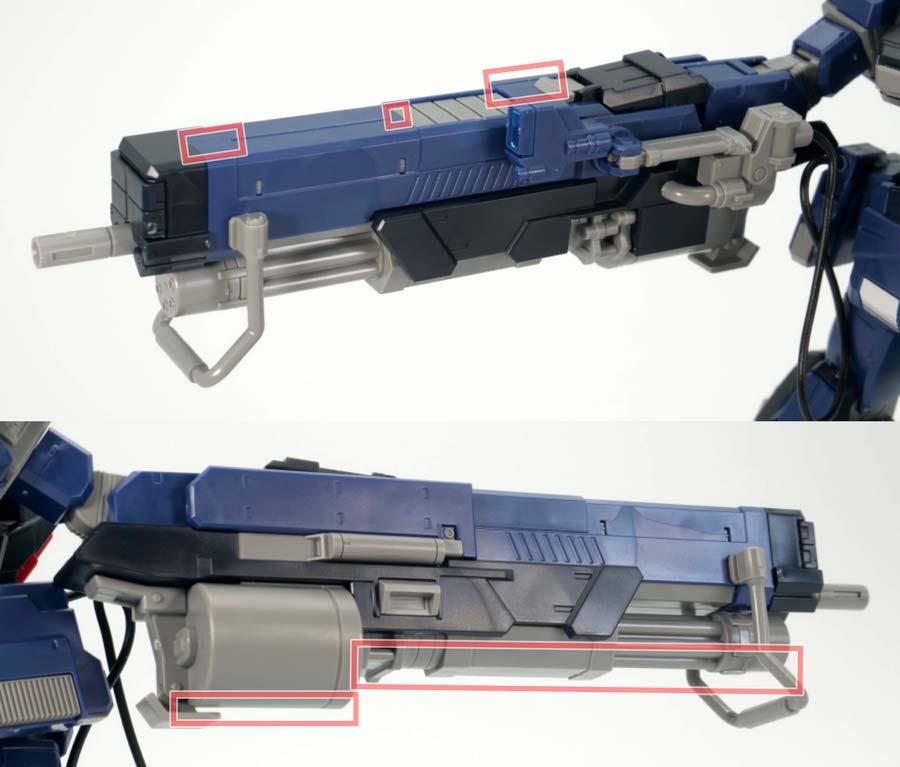 HGペイルライダーDII(ティターンズ仕様)のガンプラレビュー画像です