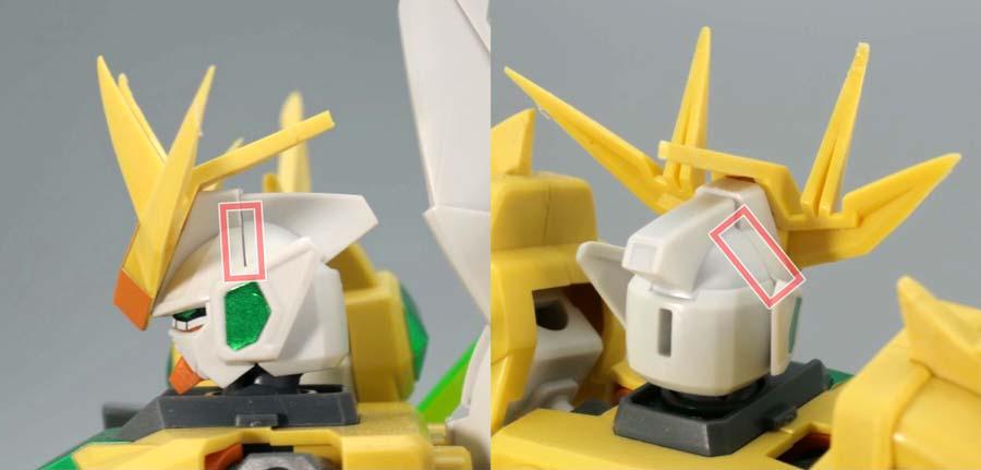 SDBFスターウイニングガンダムのガンプラレビュー画像です
