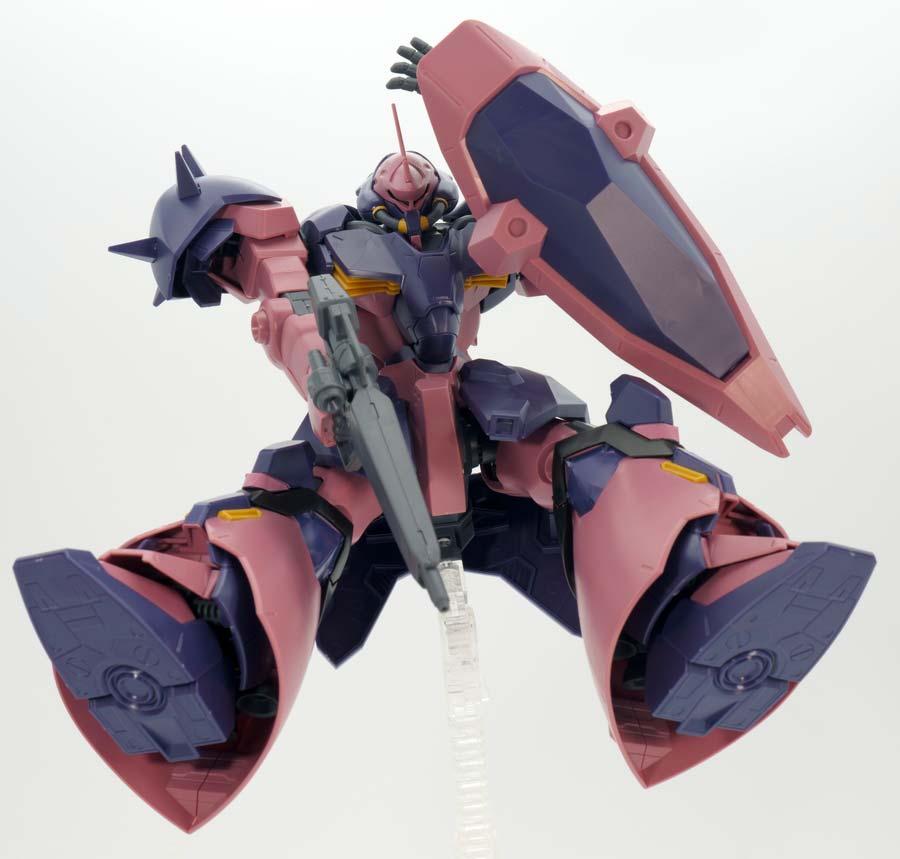 HGメッサーF02型(指揮官機)のガンプラレビュー画像です