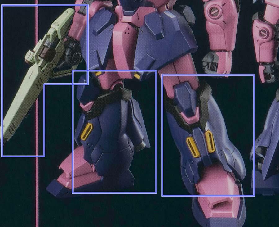 HGメッサーF型ネイキッドのガンプラレビュー画像です