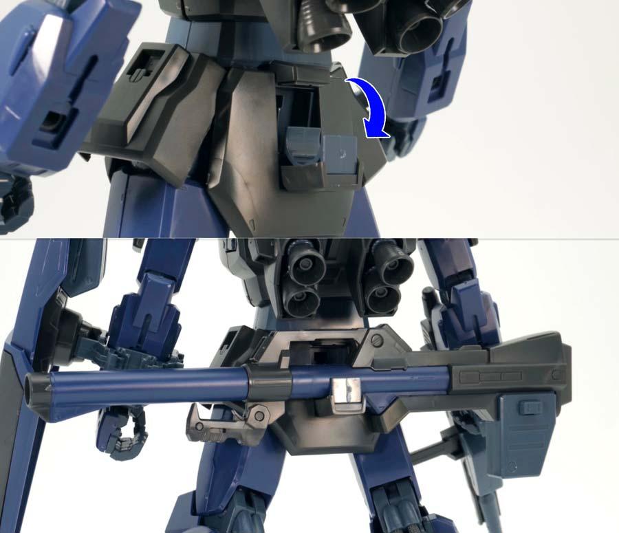 MGガンダムMk-II Ver.2.0(ティターンズ)のガンプラレビュー画像です