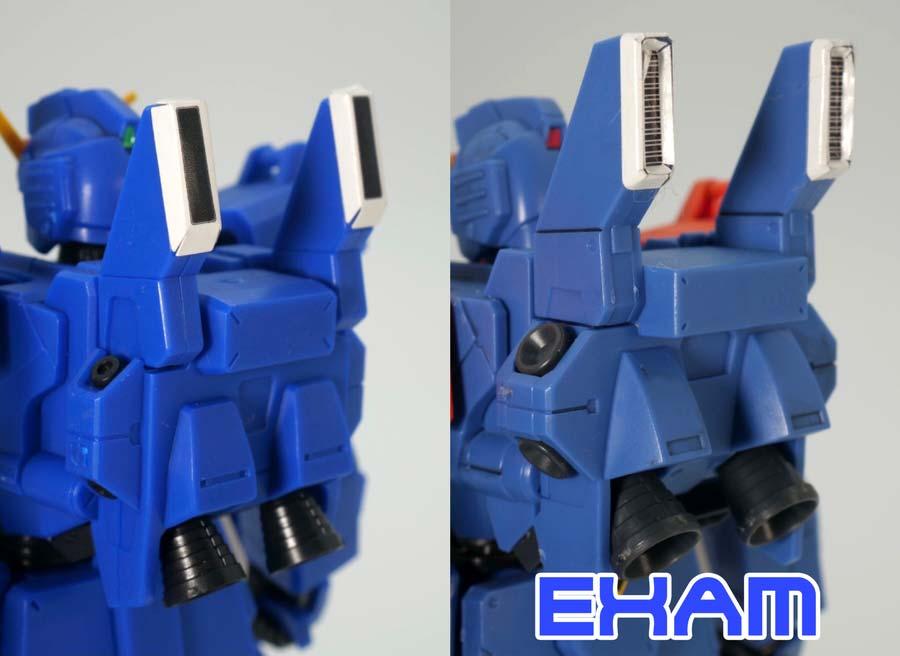 HGUCブルーディスティニー2号機とEXAMの違い・比較ガンプラレビュー画像です